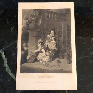 "Secret Charity 9"" x 6"" Antique Engraving/Print"